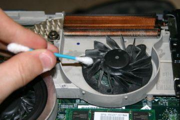 Curatare praf laptop